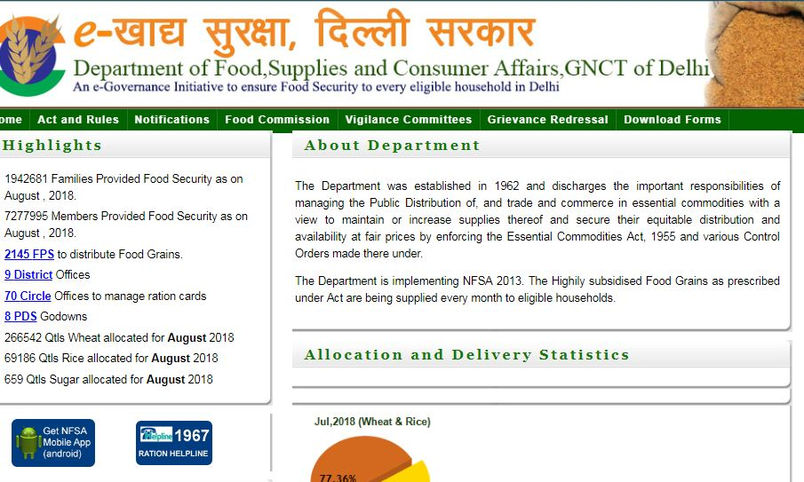 Delhi-Ration-Card-Home-Page