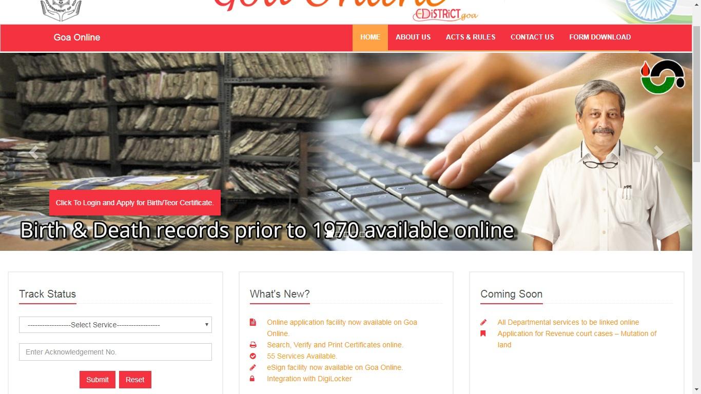 Goa-Income-Certificate-Application-Status