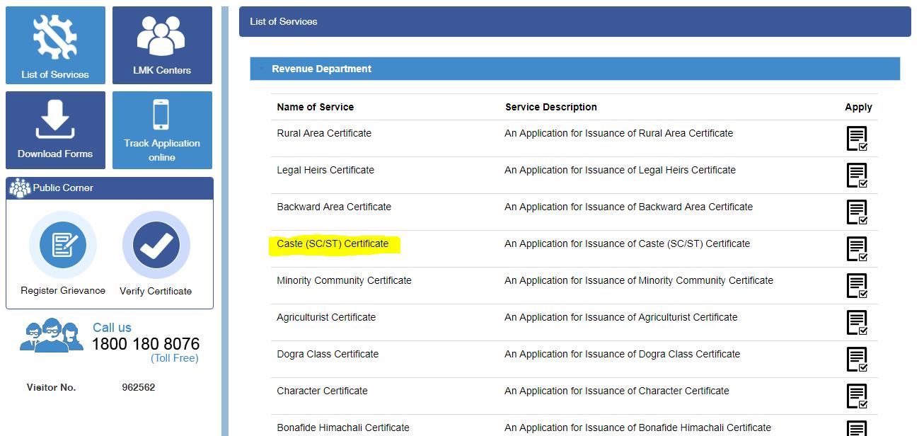 Himachal-Pradesh-Caste-Certificate-Step-2