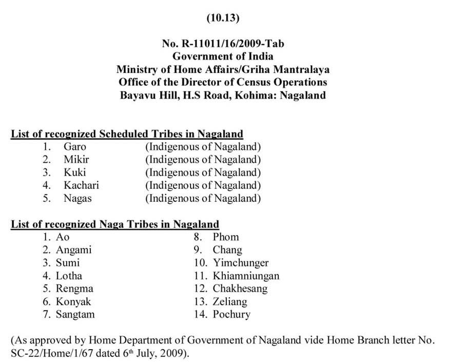 Nagaland-Tribe-Certificate-Scheduled-List