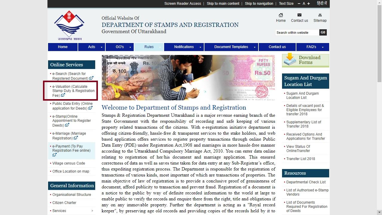 Uttarakhand Property Registration - Online Procedure - IndiaFilings