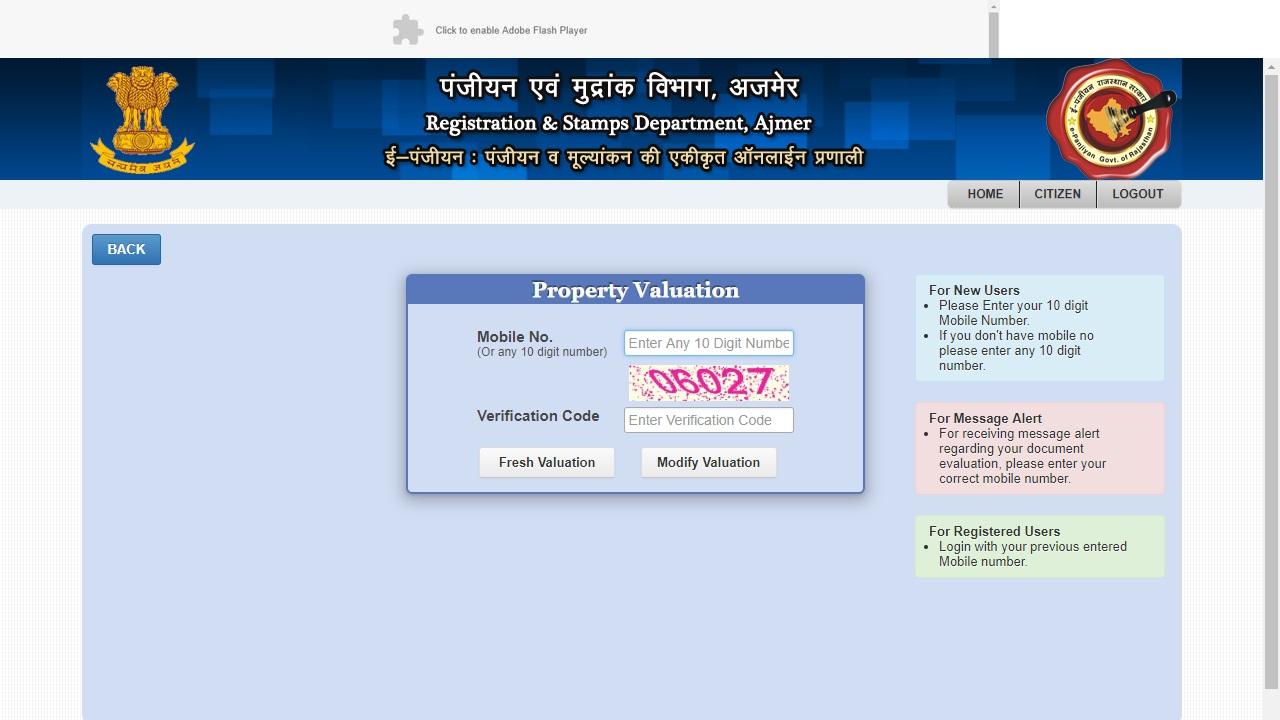 Property-valuation-Rajasthan-Property-Registration
