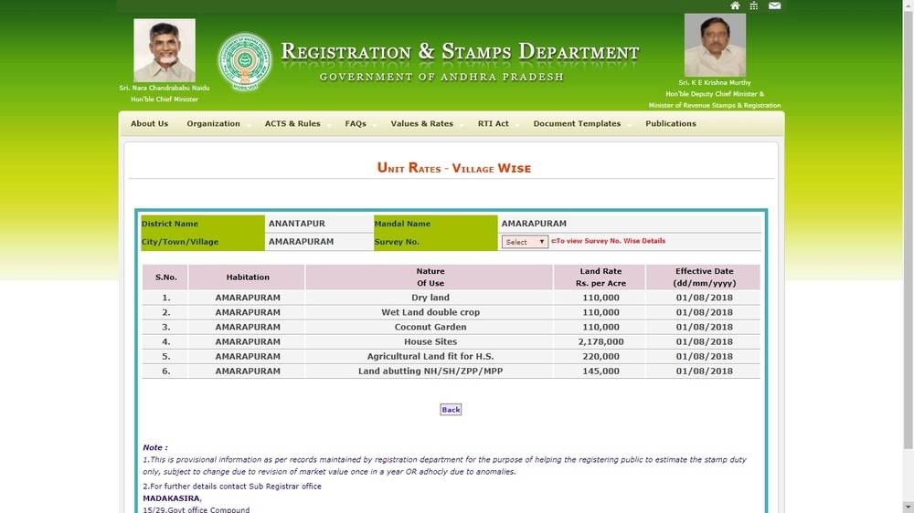 Andhra Pradesh - Agricultural Land Value Certificate