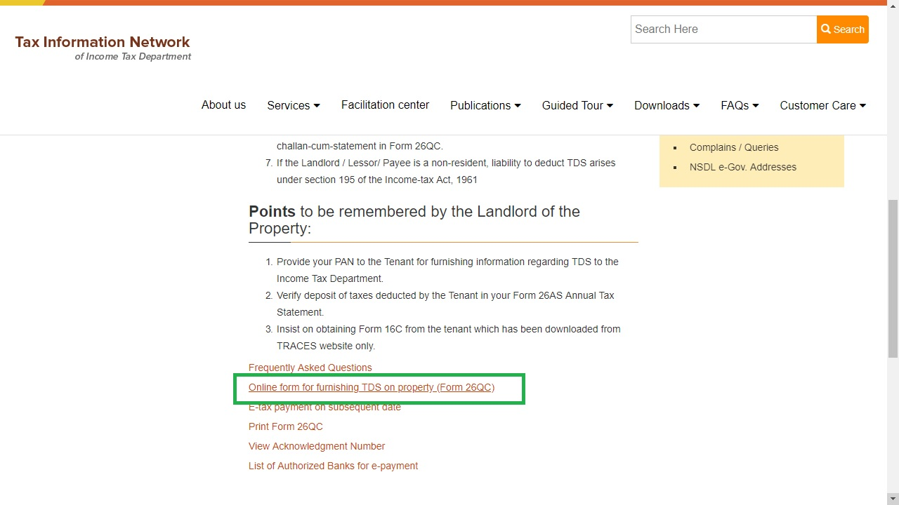 Section 194IB - TDS on Rent of Property - IndiaFilings