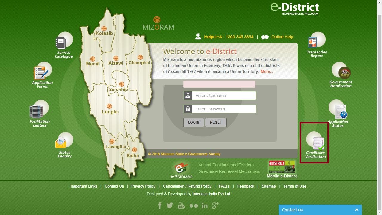 Mizoram-Domicile-Certificate-Verify-Certificate