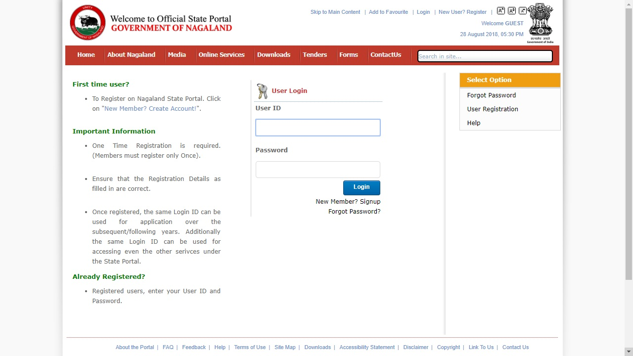 Nagaland-Domicile-Certificate-User-Login