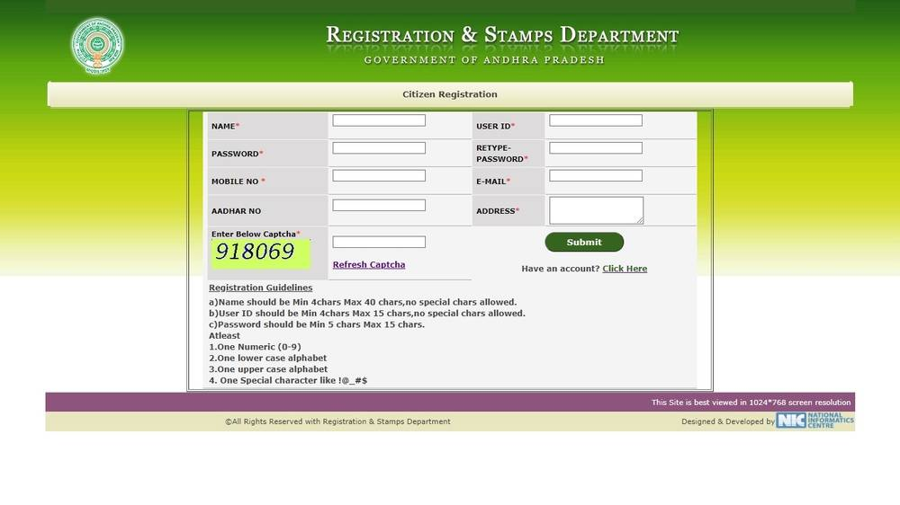 Citizen-Registration-Andhra-Pradesh-Encumbrance-Certificate