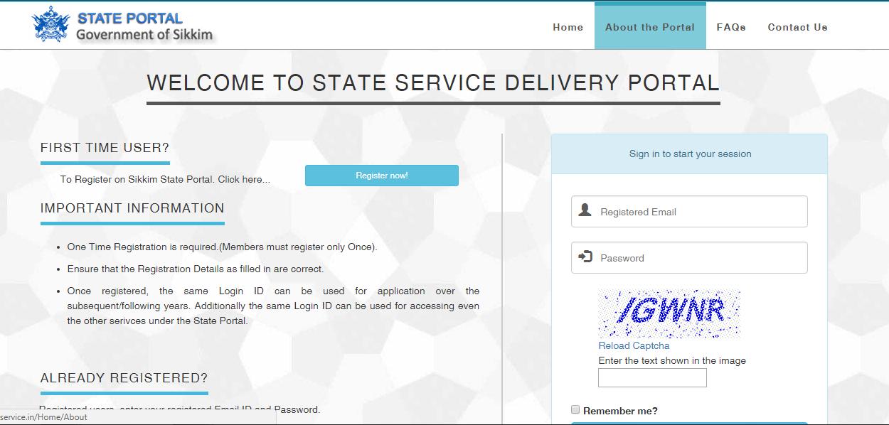 Sikkim-Domicile-Certificate-User-Registration