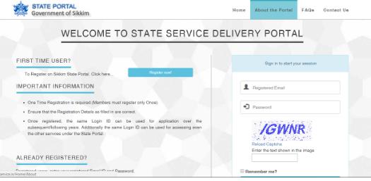 Sikkim-Income-Certificate-Login-Details