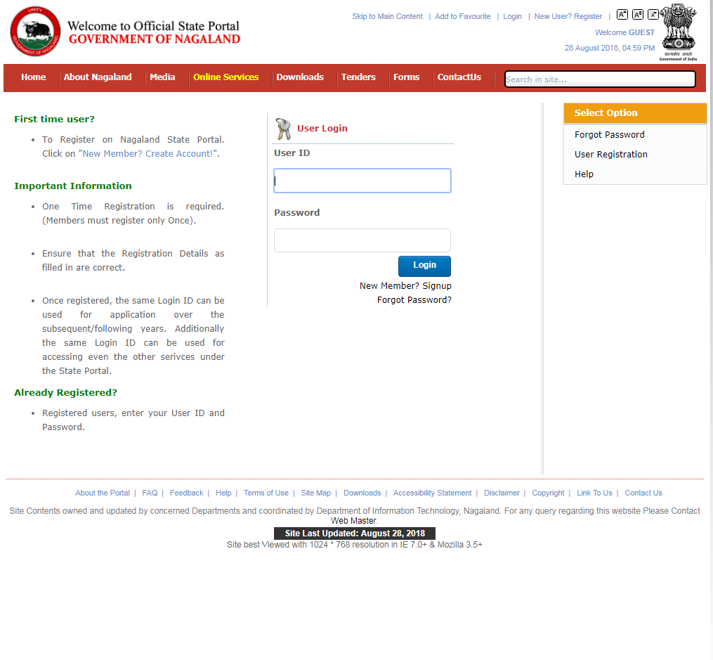 Nagaland-Death-Certificate-User-Login