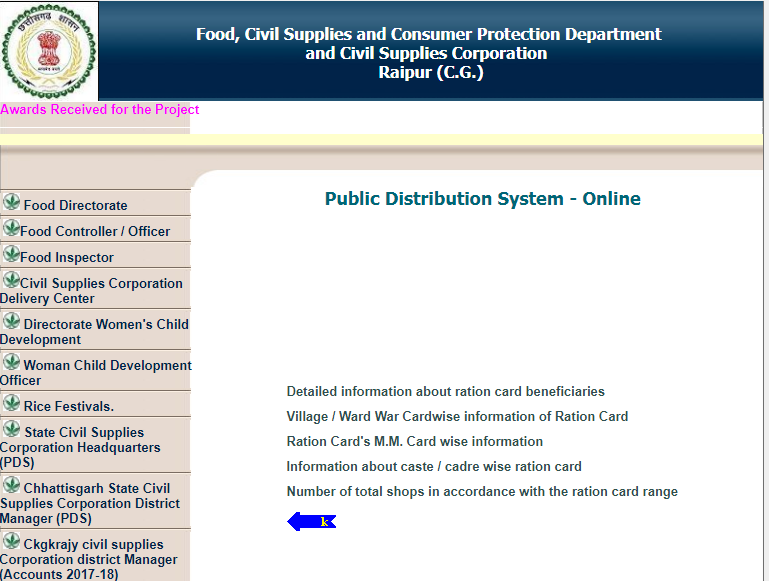 Chhattisgarh-Ration-Card-Online-System