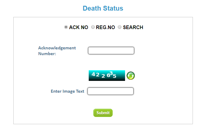 Uttar Pradesh Death Certificate - Online Application