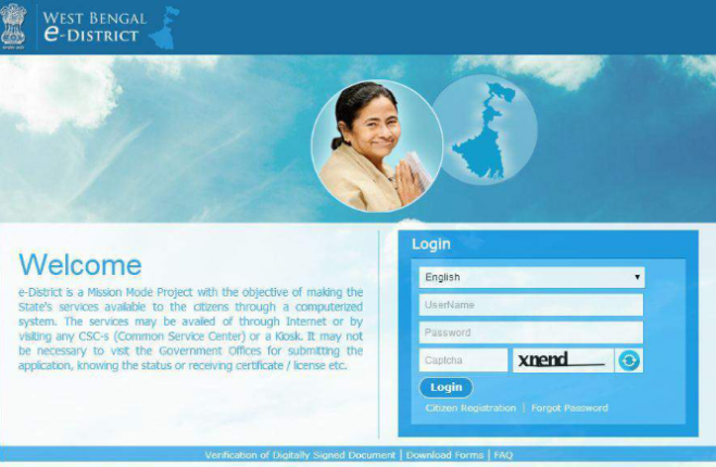 West-Bengal-Income-Certificate-Home-Page