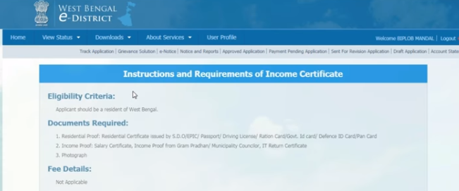 West-Bengal-Income-Certificate-Instructions