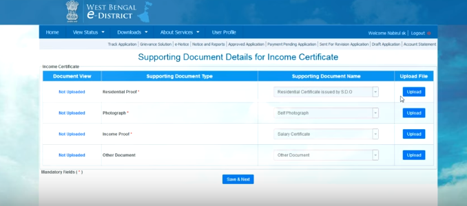 West-Bengal-Income-Certificate-Upload-Document