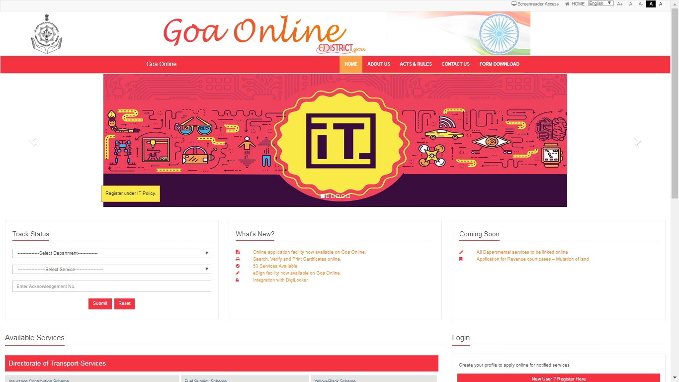 Goa-Death-Certificate-Home-Page