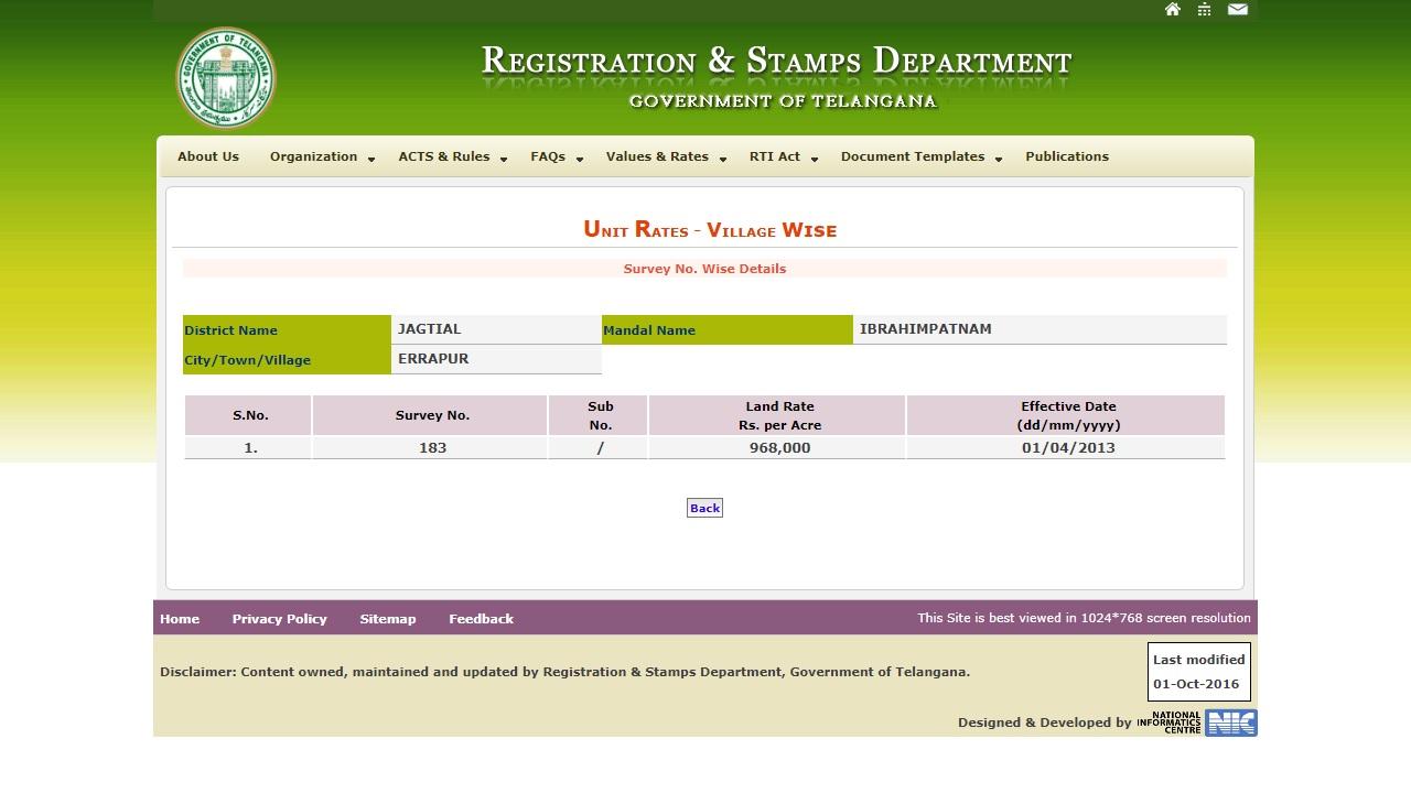 Image 3 Telangana Agricultural Land Value Certificate