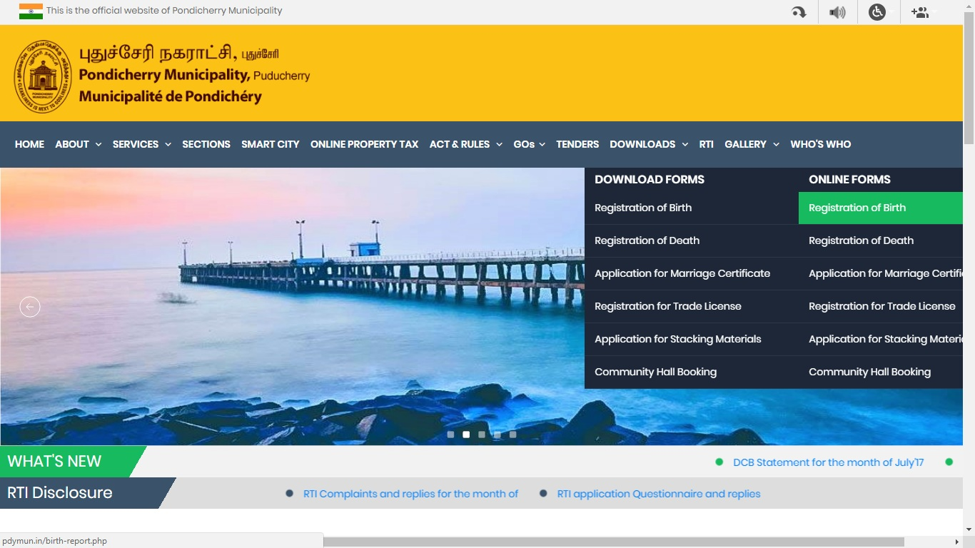 Pondicherry-Birth-Certificate-Online-Forms