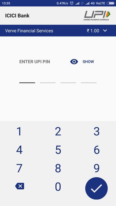 Step 3 - UPI PIN