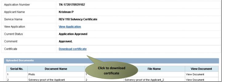 Tamil Nadu Solvency Certificate - Application Procedure