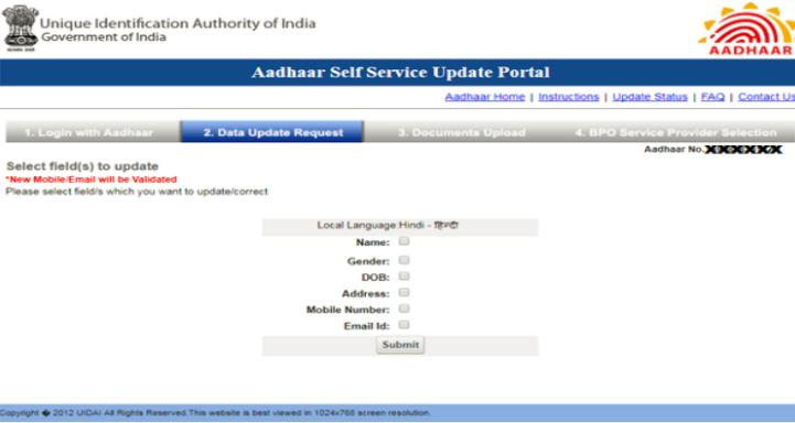 Aadhaar Data Update - Procedure & Documents Required - IndiaFilings