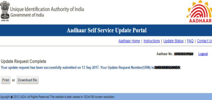 Step 9 - Aadhaar Data Update