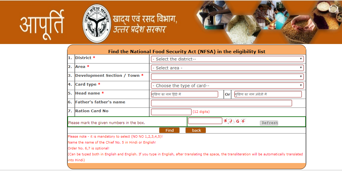Uttar Pradesh Ration Card - Eligibility & Application