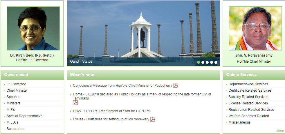Puducherry-Residence-Certificate-Home-Page