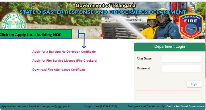 Telangana-Fire-License-Apply-Online
