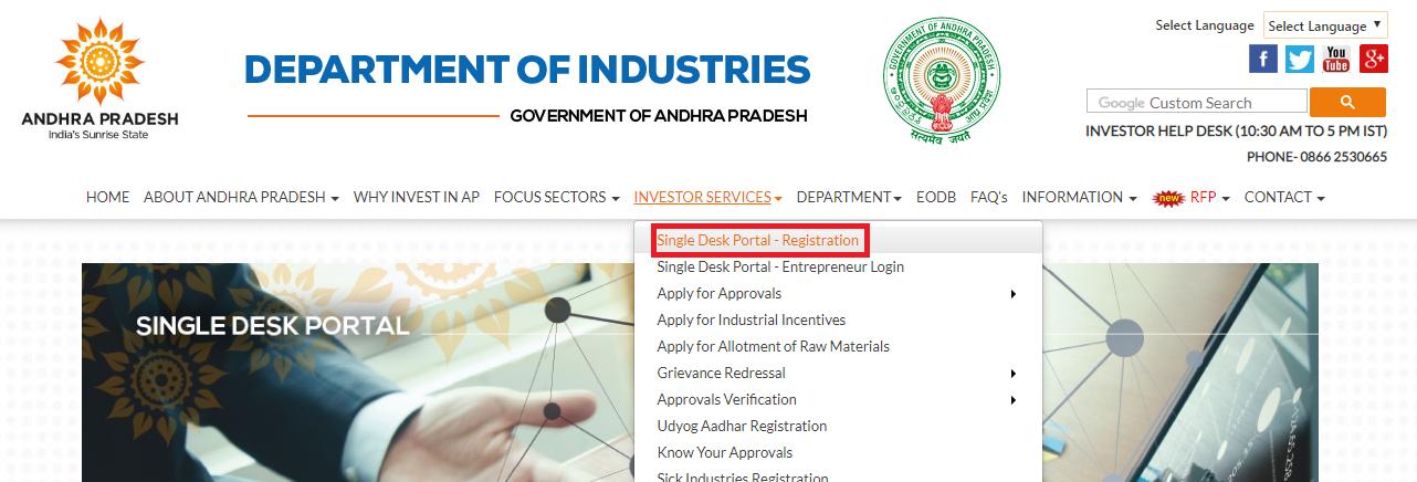 Andhra Pradesh fire license - Single Desk Portal Registration