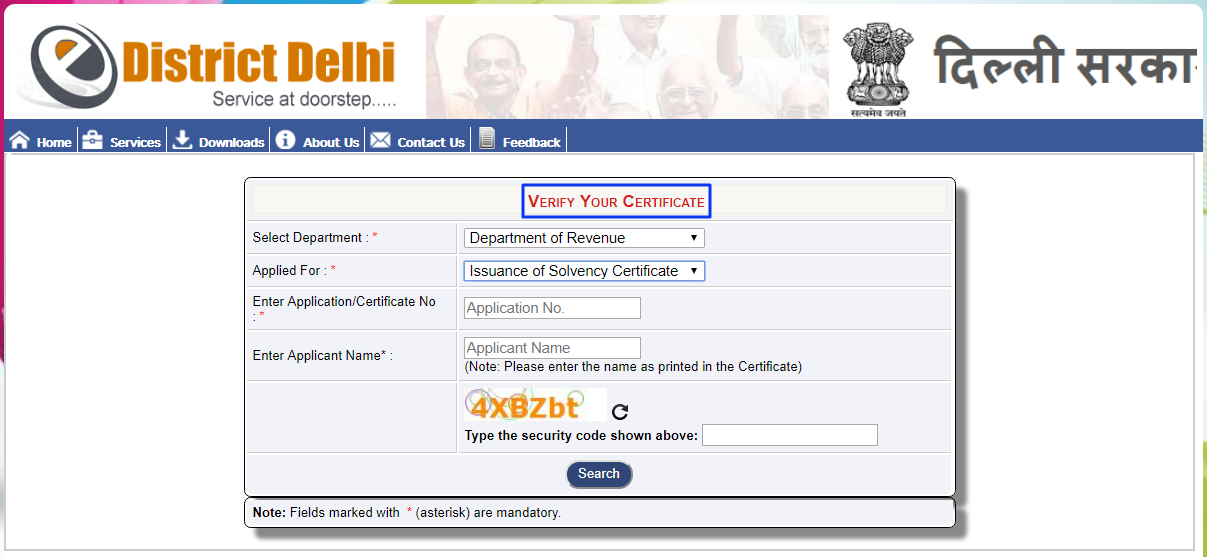 Delhi-Solvency-Certificate-Verification