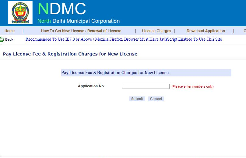 Delhi Trade License - Payment