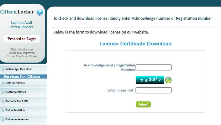 Download Certificate - Uttar Pradesh Trade License