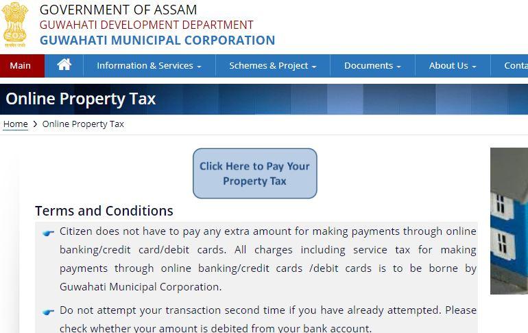 Guwahati Property Tax - Step 1