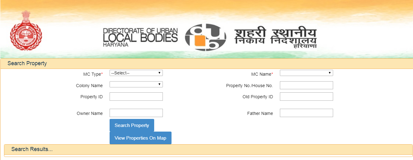 Haryana Property Tax - Search Property