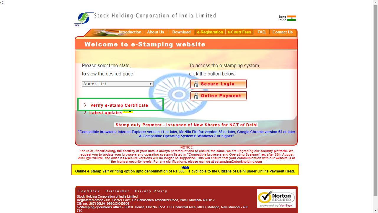 Image 1 Punjab e-Stamping Certificate