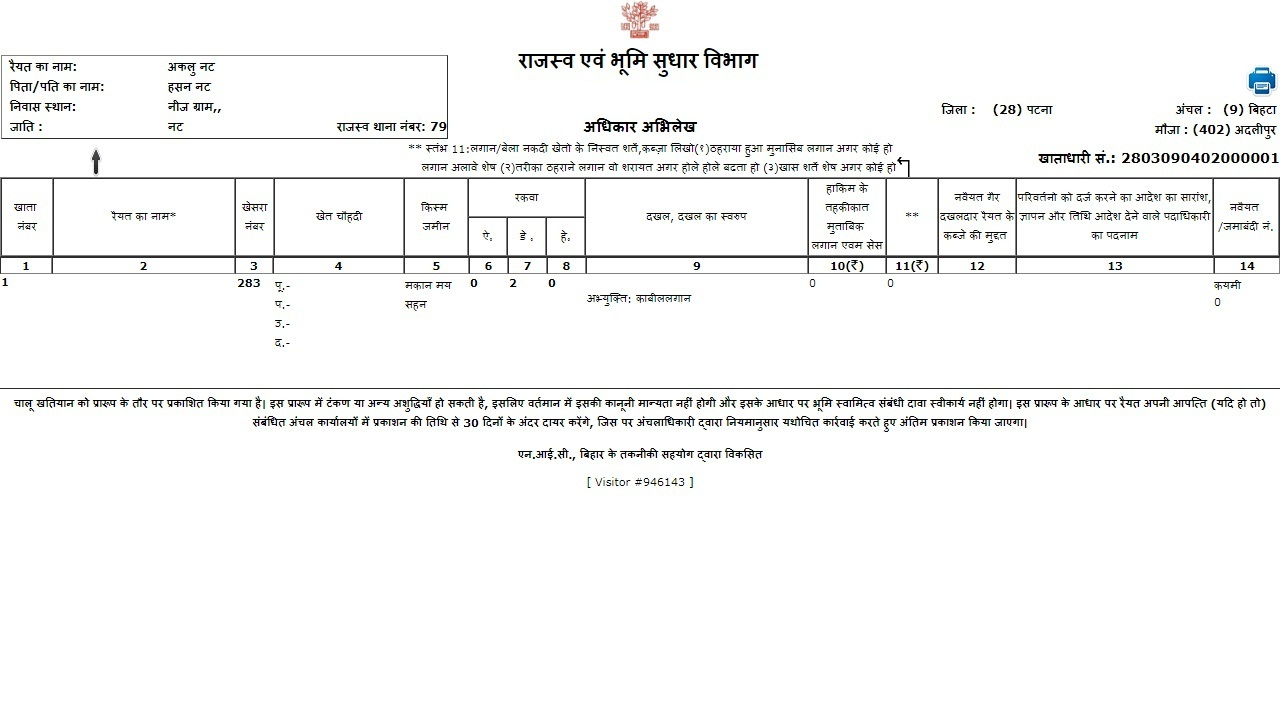 Image 7 Jharkhand Records of Rights