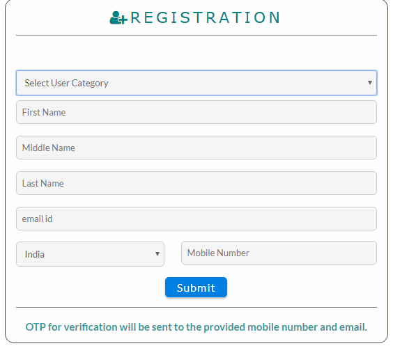 Jharkhand Fire License -Registration Page