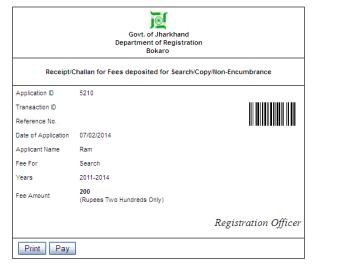 Jharkhand Non-Encumbrance Certificate Image 5