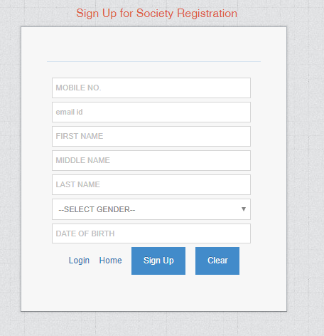 Karnataka Society Registration sign up