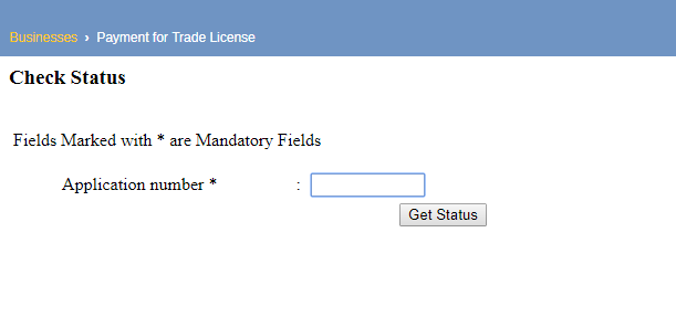 Madhya Pradesh Trade License Check Application Status
