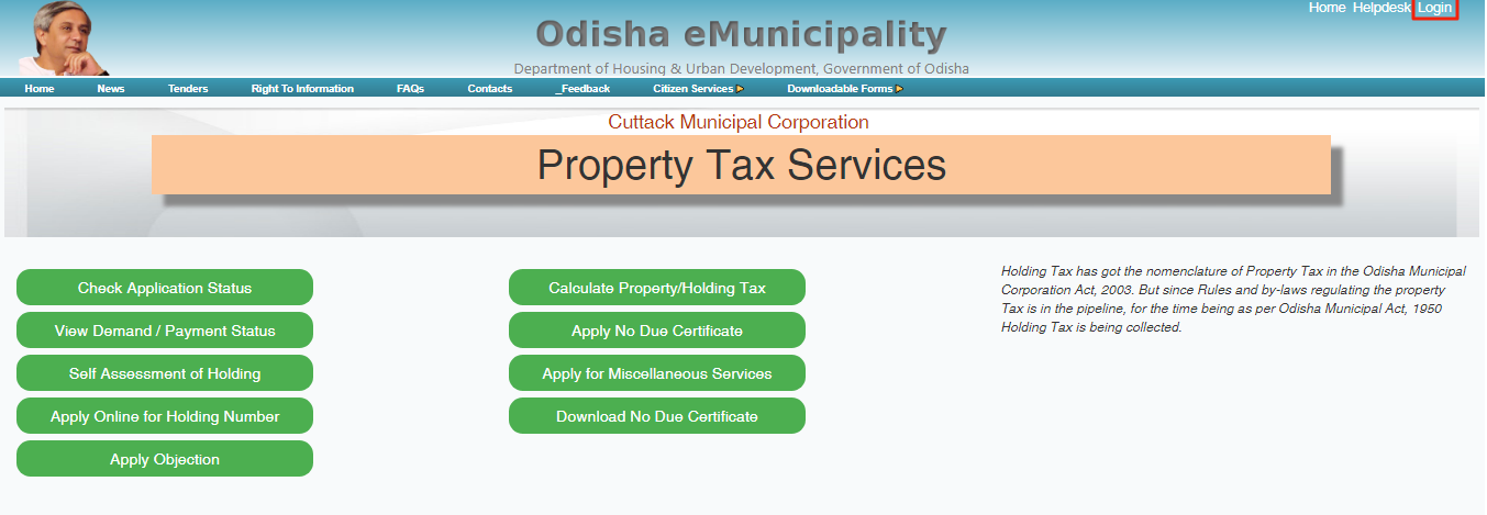 Odisha Holding Tax- Property tax services