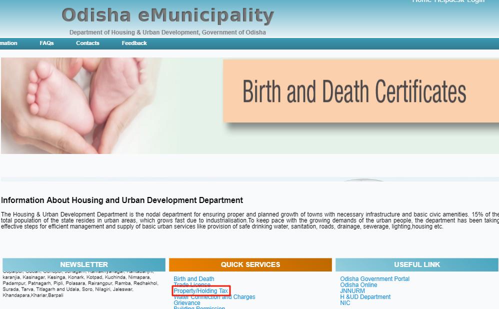 Odisha Holding Tax - eMunicipality