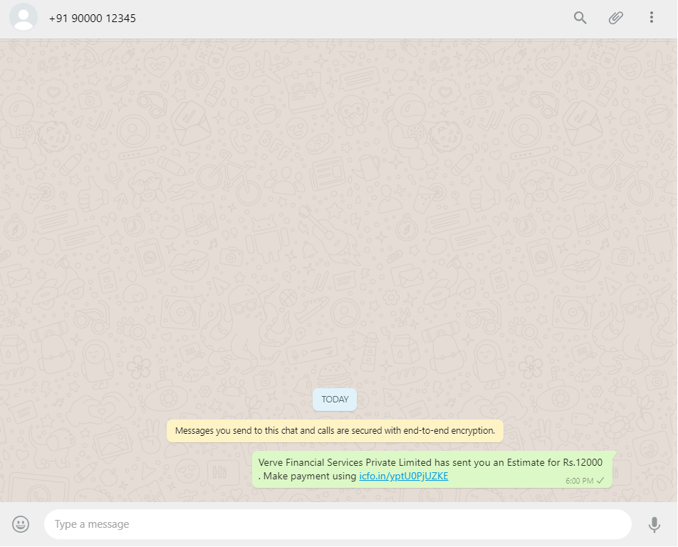 Send WhatsApp Link - Step 4