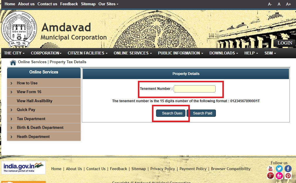 Step 4- Ahmedabad Property Tax