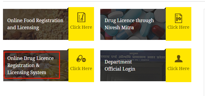 Uttar Pradesh Drug License - Home page