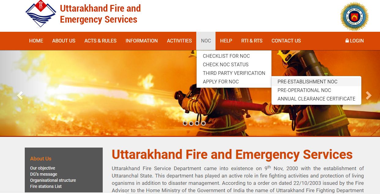 Uttarakhand Fire License - Apply NOC