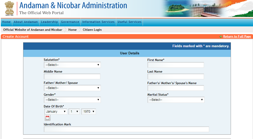 Andaman-and-Nicobar-Legal-Heir-Certificate-Create-Account