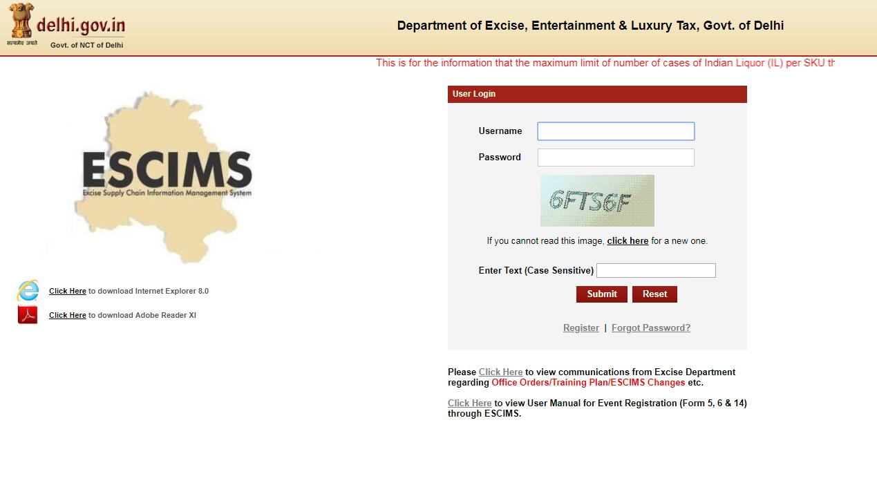 Delhi Liquor License - Online Application Procedure