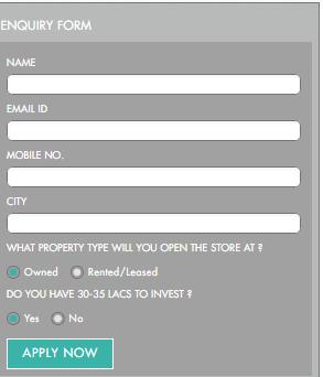 Lenskart Franchise Application Form